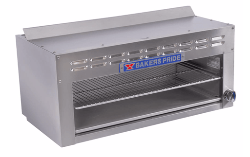 "Bakers Pride BPCMI-36 36"" Gas Cheese Melter w/ Infrared Burner, Stainless, Natural Gas"
