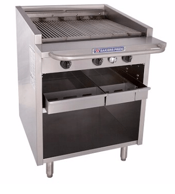 "Bakers Pride F-30R - Charbroiler, gas, 30""W, 27""W x 24""D broiler area"