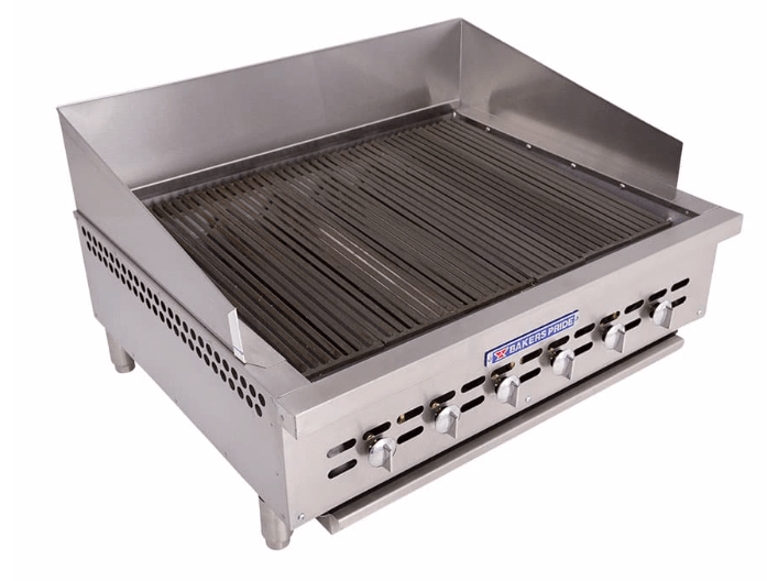 "Bakers Pride XX-6 32"" Gas Charbroiler w/ Cast Iron Grates, Natural Gas"