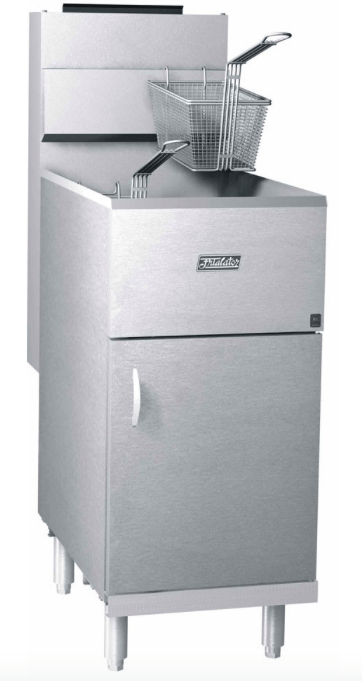 Pitco 40S Frialator Gas Fryer - (1) 45 lb Vat, Natural Gas