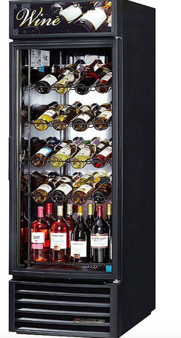 "True GDM-23W-HC~TSL01 27"" One Section Wine Cooler w/ (1) Zone - 106 Bottle Capacity, Black, 115v"