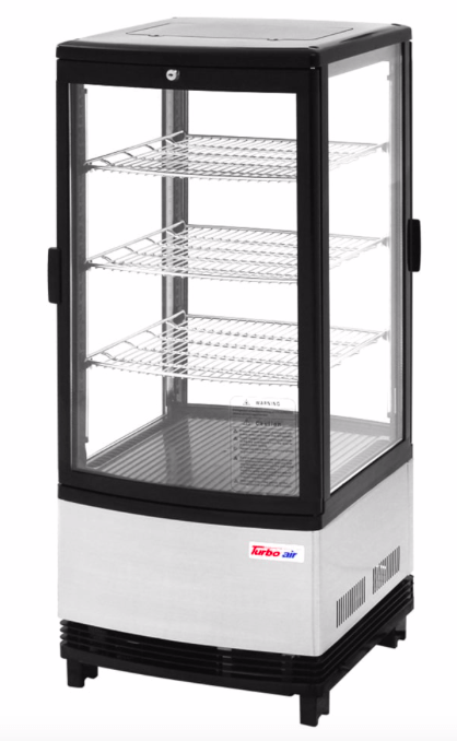 "Turbo Air CRT-77-2R-N 17"" Countertop Refrigerator w/ Pass Thru Access - Swing Door, Stainless, 115v"