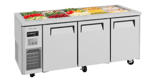 Turbo Air JBT-72-N 3 Section Refrigerated Buffet Table w/ (3) Swing Doors, 18 cu ft, 115v