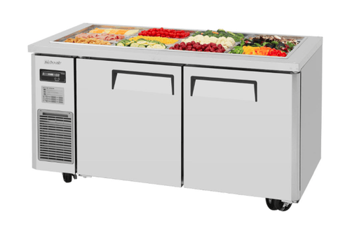 Turbo Air JBT-60-N 2 Section Refrigerated Buffet Table w/ (2) Swing Doors, 15 cu ft, 115v