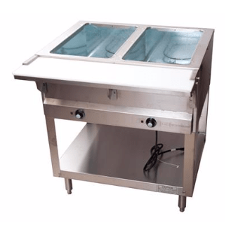 BK Resources: 2 WELL ELECTRIC STEAM TABLE, 1000W