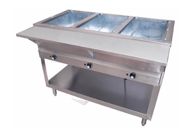 BK Resources: 3 WELL ELECTRIC STEAM TABLE, 1500W