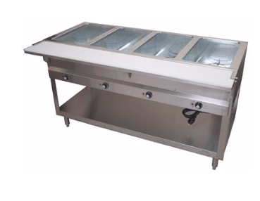BK Resources: 4 WELL ELECTRIC STEAM TABLE, 2000W