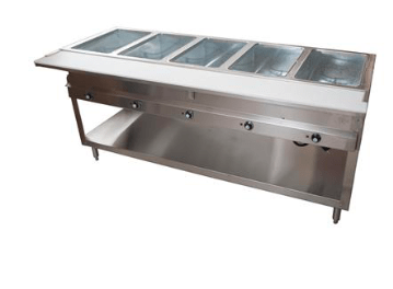 BK Resources: 5 WELL ELECTRIC STEAM TABLE, 2500W