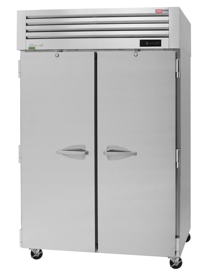 "Turbo Air PRO-50F-N 52"" Two Section Reach In Freezer, (2) Solid Doors, 115v"