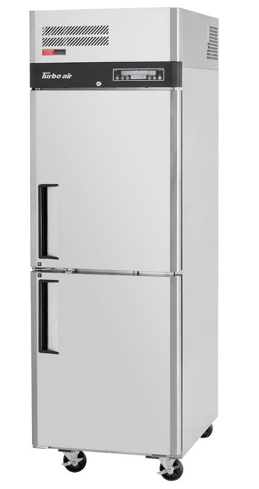 "Turbo Air M3RF19-2-N 25"" One Section Commercial Refrigerator Freezer, Solid Doors, Top Compressor 115v"