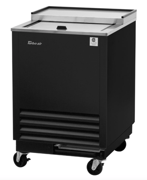 Turbo Air TBC-24SB-GF-N6 1 Section Glass Chiller w/ 48 Mug Capacity, Black, 115v