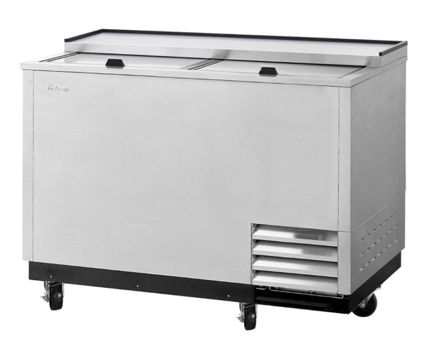 Turbo Air TBC-50SD-GF-N 2 Section Glass Chiller w/ 140 Mug Capacity, Stainless, 115v