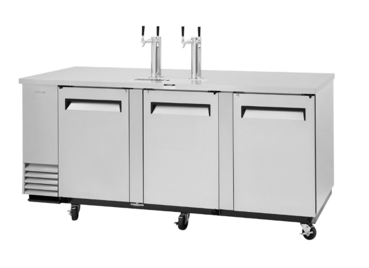 "Turbo Air TBD-4SD-N 90 3/8"" Draft Beer System w/ (4) Keg Capacity - (2) Columns, Stainless, 115v"