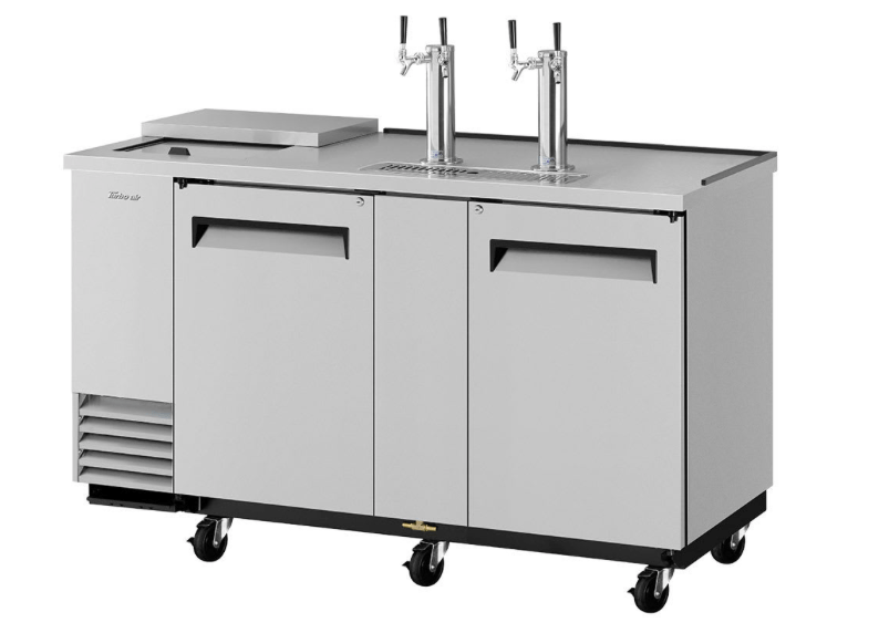 "Turbo Air TCB-3SD-N6 69 1/8"" Draft Beer System w/ (3) Keg Capacity - (2) Columns, Stainless, 115v"