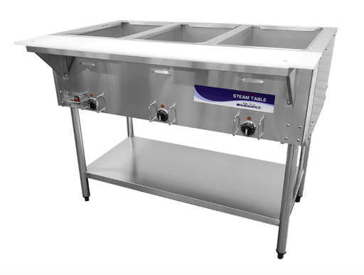 Turbo Air RST-3P Hot Food Steam Table w/ (3) Wells, 120v