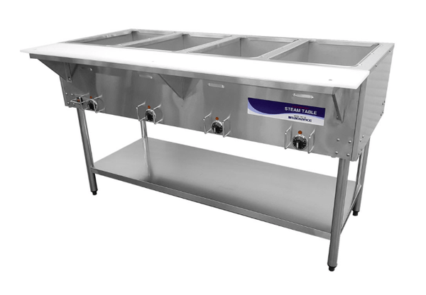 Turbo Air RST-4P Hot Food Steam Table w/ (4) Wells, 240v/1ph