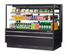 "Turbo Air TCGB-60UF-W(B)-N 60 1/2"" Full Service Deli Case w/ Straight Glass - (3) Levels, 115v"