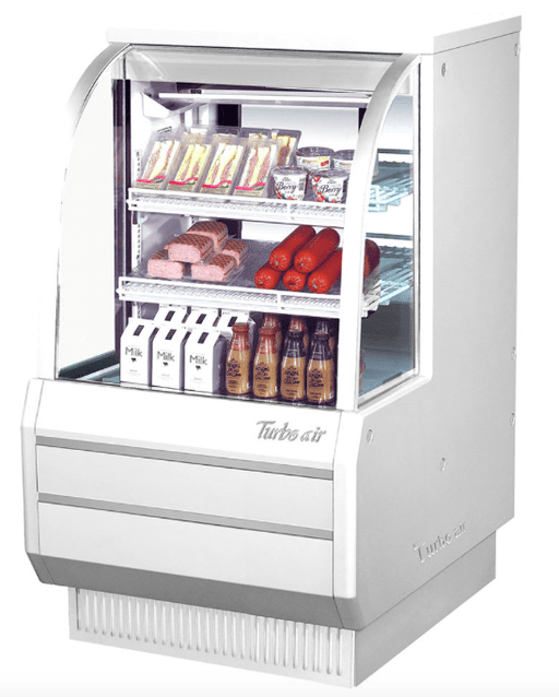 "Turbo Air TCDD-36H-W-N 36 1/2"" Full Service Deli Case w/ Curved Glass - (3) Levels, 115v"