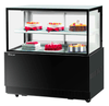 "Turbo Air TBP-48-46NN BLK 47 1/5"" Full Service Bakery Case w/ Straight Glass - (2) Levels, 115v"