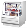"Turbo Air TCDD-48H-W-N 48 1/2"" Full Service Deli Case w/ Curved Glass - (3) Levels, 115v"