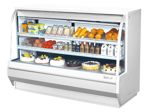 "Turbo Air TCDD-72H-W-N 72 1/2"" Full Service Deli Case w/ Curved Glass - (3) Levels, 115v"