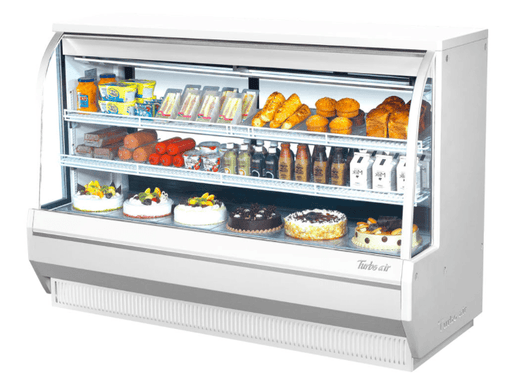 "Turbo Air TCDD-72L-W-N 72 1/2"" Full Service Deli Case w/ Curved Glass - (2) Levels, 115v"