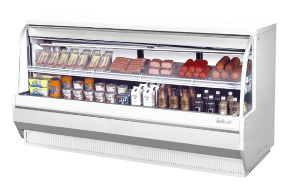 "Turbo Air TCDD-96L-W-N 96 1/2"" Full Service Deli Case w/ Curved Glass - (2) Levels, 115v"