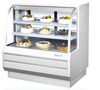 "Turbo Air TCGB-48-W-N 48 1/2"" Full Service Bakery Display Case w/ Curved Glass - (3) Levels, 115v"