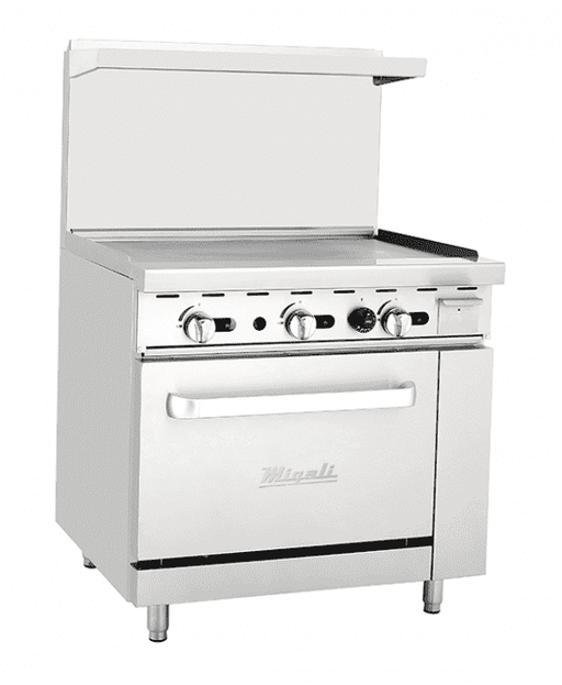 "Migali - C-RO-36G-NG 36"" Griddle, (1) Oven, Natural Gas"