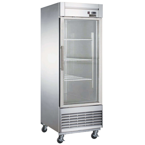 Dukers - D28R-GS1 Bottom Mount Glass Single Door Commercial Reach-in Refrigerator