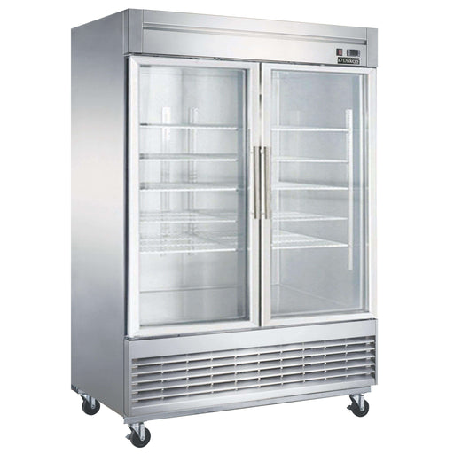 Dukers - D55R-GS2 Bottom Mount Glass 2-Door Commercial Reach-in Refrigerator