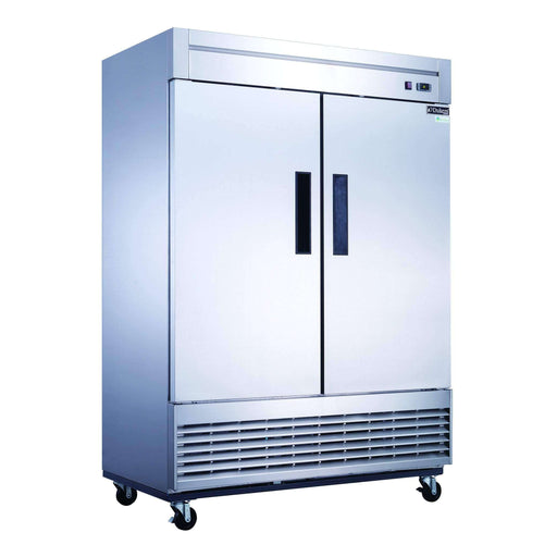 Dukers - D55R 2-Door Commercial Refrigerator in Stainless Steel