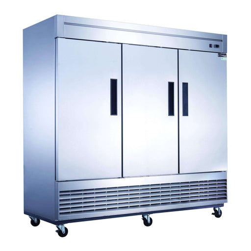 Dukers - D83R 3-Door Commercial Refrigerator in Stainless Steel