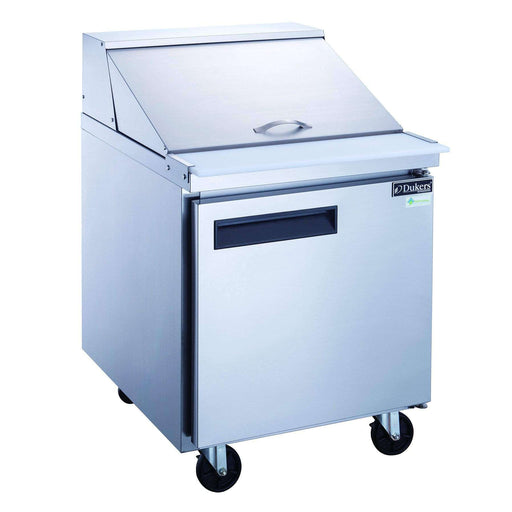 Dukers - DSP29-12M-S1 1-Door Commercial Food Prep Table Refrigerator in Stainless Steel with Mega Top
