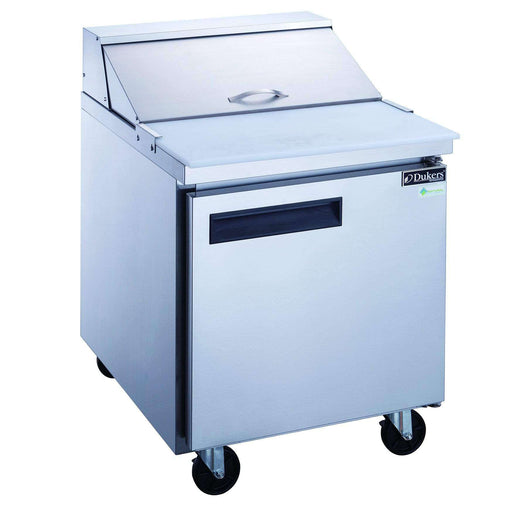Dukers - DSP29-8-S1 1-Door Commercial Food Prep Table Refrigerator in Stainless Steel