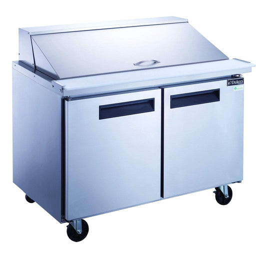 Dukers - DSP48-18M-S2 2-Door Commercial Food Prep Table Refrigerator in Stainless Steel with Mega Top