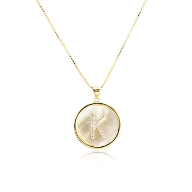A-Z Seashell Initial-Ketten No. 2 Gold