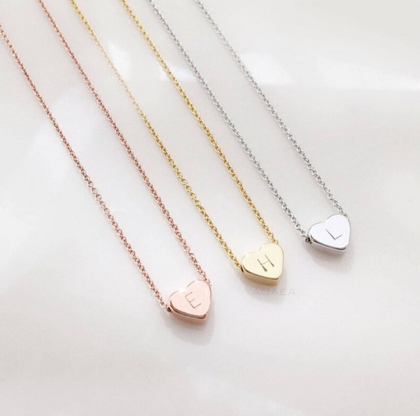 Minimalistic Heart Chain Gold - Pyrite Jewelry - [product_type]