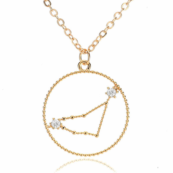 Steinbock 23. Dez – 20. Jan - Pyrite Jewelry - Gold Chain