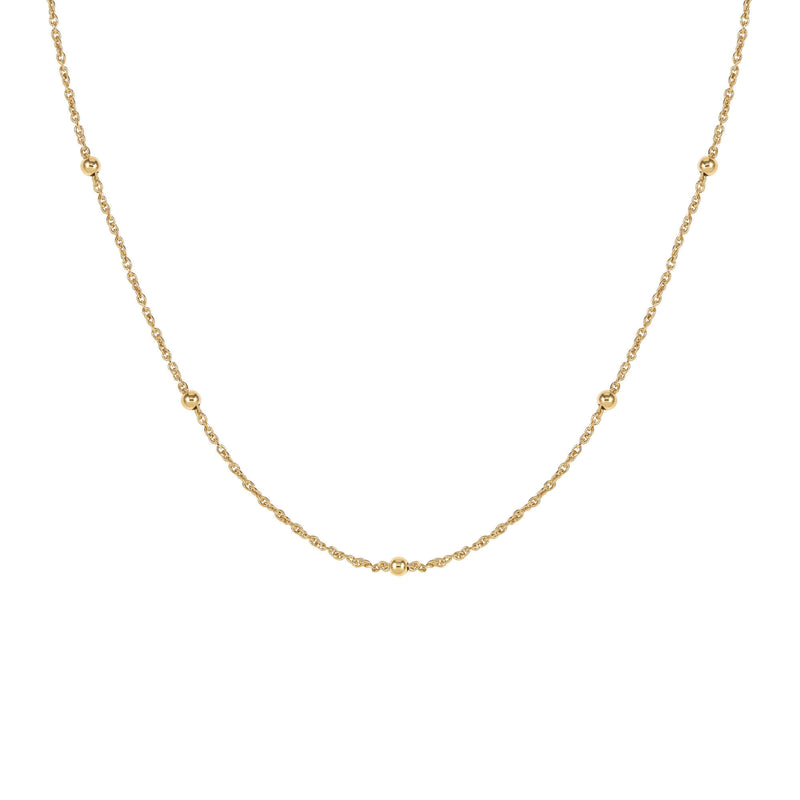 DOT COLLIER GOLD - Pyrite Jewelry - Gold Chain