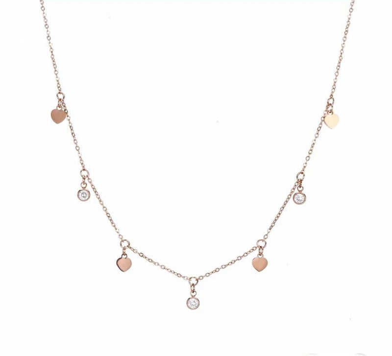 LEAVE COIN NECKLACE ROSÉ GOLD