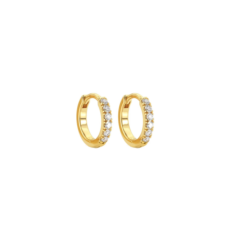 925 Basic Diamond Ohrring Gold
