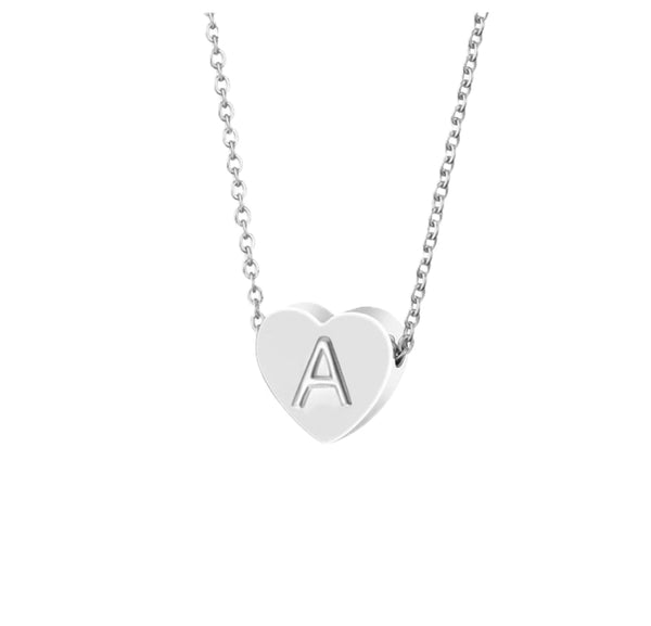 Minimalistic Heart Chain Silver - Pyrite Jewelry - [product_type]