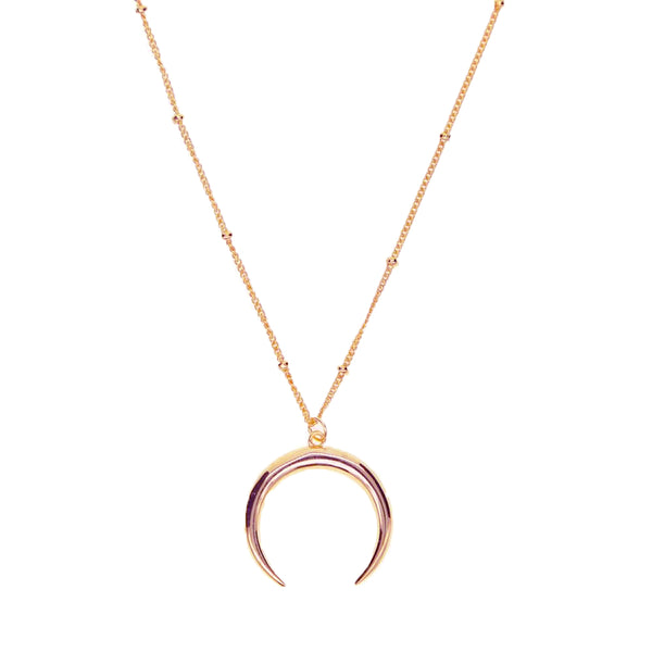 DOTTED MOON NECKLACE ROSÉ GOLD - Pyrite Jewelry - [product_type]