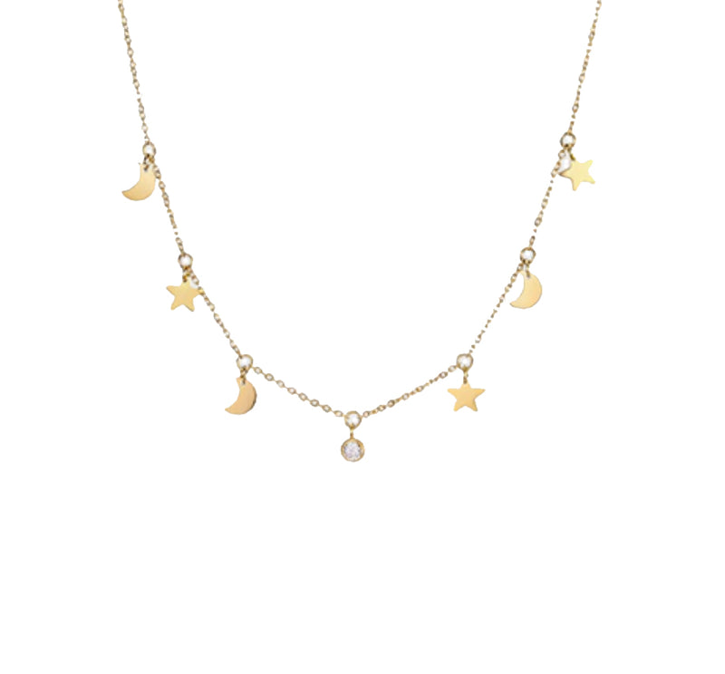 Night Sky Chain Gold - Pyrite Jewelry - Gold Chain