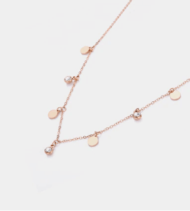 COIN JEWEL CHOKER ROSÉ GOLD - Pyrite Jewelry - [product_type]