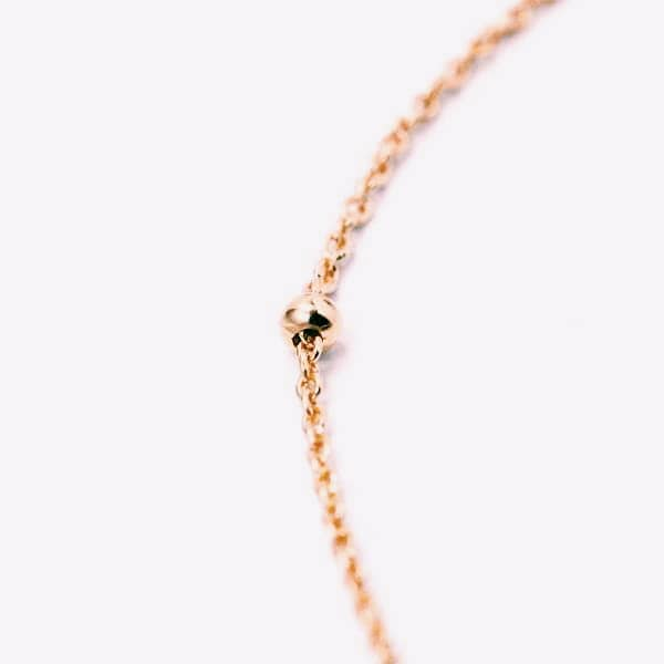 DOT COLLIER ROSE GOLD - Pyrite Jewelry - Gold Chain