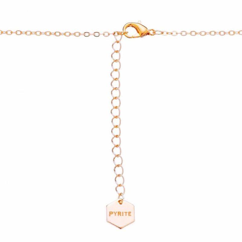 Minimalistic Heart Chain Rosé Gold - Pyrite Jewelry - [product_type]