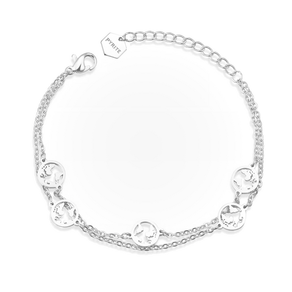 double World Bracelet Silver