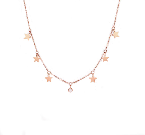 STAR NECKLACE ROSÉ GOLD